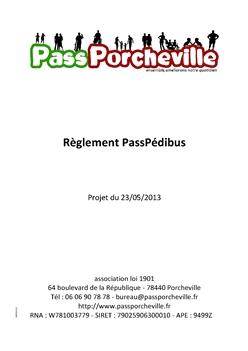 pedibus_reglement
